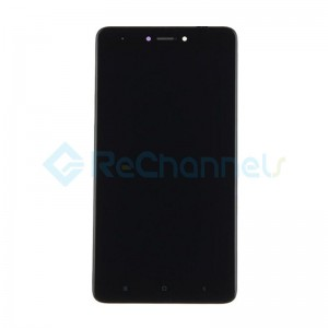 For Xiaomi Redmi Note 4X LCD Screen and Digitizer Assembly with Front Housing Replacement - Black - Grade S+