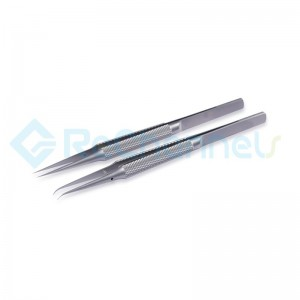 Stainless Steel 0.15mm Edge Precision Jump Line Repair Tweezers For Apple Mainboard Copper Wire