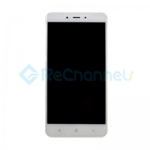 For Xiaomi Redmi 4 LCD Screen and Digitizer Assembly with Front Housing Replacement - White - Grade S