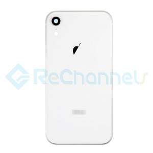 For Apple iPhone XR Rear Housing with Battery Door Replacement - White - Grade S+