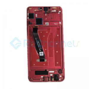 For Huawei Honor 8X LCD Screen and Digitizer Assembly with Front Housing Replacement - Red - Grade S+