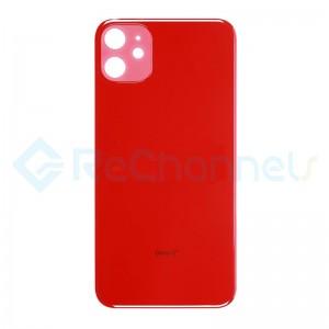 For Apple iPhone 11 Battery Door  Replacement - Red - Grade S