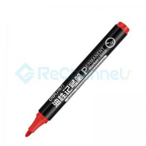 For Deli No.6881 Permanent Marker-Red