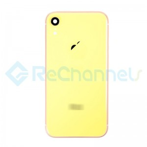 For Apple iPhone XR Rear Housing with Battery Door Replacement - Yellow - Grade S+