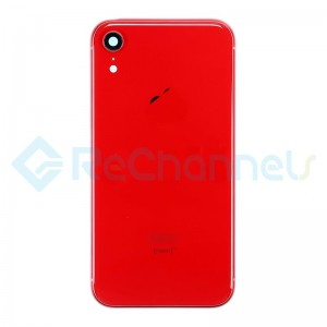 For Apple iPhone XR Rear Housing with Battery Door Replacement - Red - Grade S+