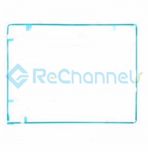 For Apple The New iPad (iPad 3) Digitizer Frame with Adhesive Replacement - White - Grade S+