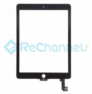 For Apple iPad Air 2 Digitizer Touch Screen Replacement - Black - Grade S+