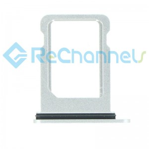 For iPhone 12 Mini Sim Card Tray Replacement- Single Version-White-Grade S+