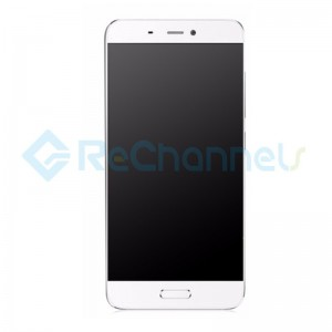 For Xiaomi Mi 5 LCD Screen and Digitizer Assembly with Front Housing Replacement - White - Grade S