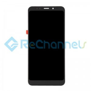 For Xiaomi Redmi 5 Plus LCD Screen and Digitizer Assembly with Front Housing Replacement - Black - Grade S