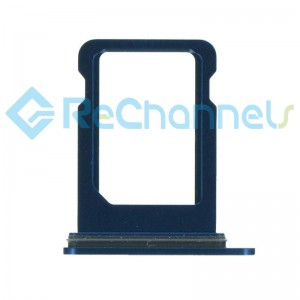 For iPhone 12 Mini Sim Card Tray Replacement- Single Version-Blue-Grade S+
