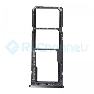 For Samsung Galaxy A7 (2018) SM-A750 SIM Card Tray  Replacement - Black - Grade S+