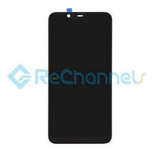 For Nokia 7.1 LCD Screen and Digitizer Assembly Replacement - Black - Grade S+