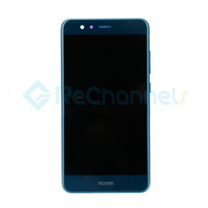 For Huawei P10 Lite LCD Screen and Digitizer Assembly with Front Housing Replacement - Blue - Grade S