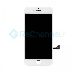 For Apple iPhone 7 LCD Screen and Digitizer Assembly with Frame Replacement - White - Grade R