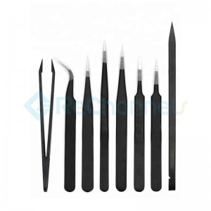 Professional Anti-Static Long Tweezer Kit For Electronic Repairing ( 8 pcs)