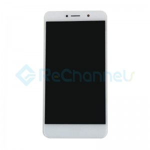 For Huawei Y7 (Enjoy 7 Plus) LCD Screen and Digitizer Assembly with Front Housing Replacement - White - Grade S