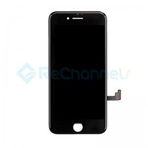 For Apple iPhone 8 LCD Screen and Digitizer Assembly with Frame Replacement - Black - Grade R+