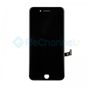 For Apple iPhone 8 Plus LCD Screen and Digitizer Assembly with Frame Replacement - Black - Grade R+