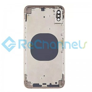 For Apple iPhone XS Max Rear Housing with Battery Door Replacement - Gold - Grade S+
