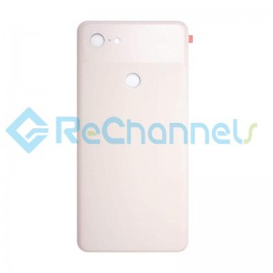 For Google Pixel 3 XL Battery Door Replacement (With Adhesive) - Pink - Grade S+