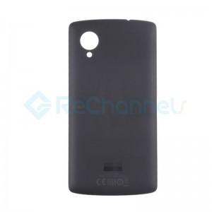 For LG Nexus 5 D821 Battery Door Replacement - Black - Grade S+