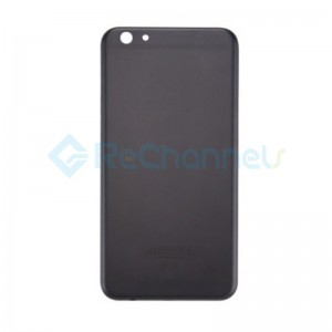 For OPPO R9s Battery Door Replacement - Black - Grade S+