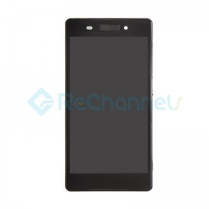 For Sony Xperia Z2 LCD Screen and Digitizer Assembly with Front Housing Replacement - Black - Grade S+