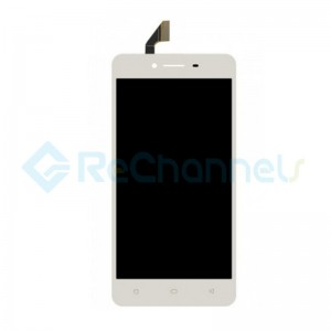 For OPPO A37 LCD Screen and Digitizer Assembly Replacement - White - Grade S+