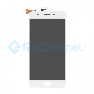For Oppo A57 LCD Screen and Digitizer Assembly Replacement - White - Grade S+