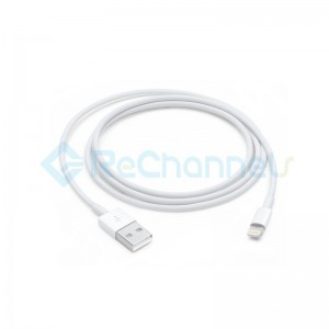 USB Charging Cable for Apple (1M ) - White - Grade S
