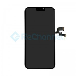 For Apple iPhone X LCD Screen and Digitizer Assembly with Frame Replacement (LCD) - Black - Grade R