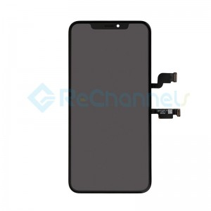For Apple iPhone XS Max LCD Screen and Digitizer Assembly with Front Housing Replacement - Black - Grade R