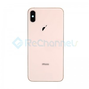 For Apple iPhone XS Rear Housing with Battery Door Replacement - Gold - Grade R