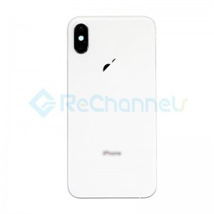 For Apple iPhone XS Rear Housing with Battery Door Replacement - Silver - Grade R