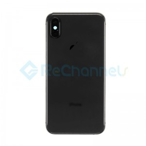 For Apple iPhone XS Rear Housing with Battery Door Replacement - Space Gray - Grade R