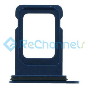 For iPhone 12 Sim Card Tray Replacement- Single Version-Blue-Grade S+