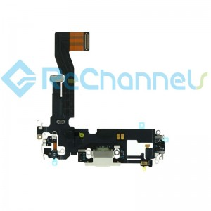 For iPhone 12 Pro Charging Port Flex Cable Replacement-Silver-Grade S+