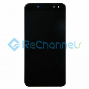 For Blackberry DTEK60 LCD Screen and Digitizer Assembly Replacement - Black - Grade S+