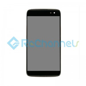 For Blackberry DTEK60 LCD Screen and Digitizer Assembly with Front Housing Replacement - Black - Grade S+