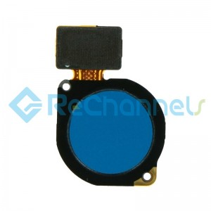 For Huawei P Smart Z/Y9 Prime (2019) Fingerprint Sensor Flex Cable Replacement - Blue - Grade S+