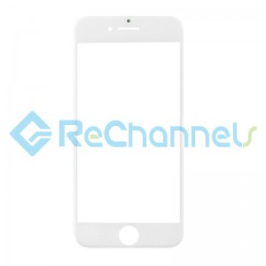 For Apple iPhone 8 Glass Lens Replacement - White - Grade S+
