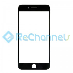 For Apple iPhone 8 Plus Glass Lens Replacement - Black - Grade S+