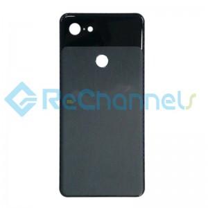 For Google Pixel 3a XL Battery Door Replacement - Black - Grade S+