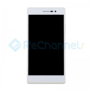 For Huawei Ascend P7 LCD Screen and Digitizer Assembly with Frame Replacement - White - Grade S