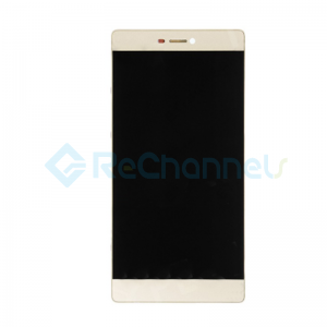 For Huawei P8 LCD Screen and Digitizer Assembly with Front Housing Replacement - Gold - Grade S+