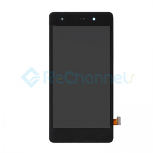 For Huawei P8 Lite LCD Screen and Digitizer Assembly with Front Housing Replacement - Black - Grade S+