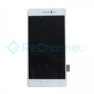 For OPPO R5 LCD Screen and Digitizer Assembly Replacement - White - Grade S+