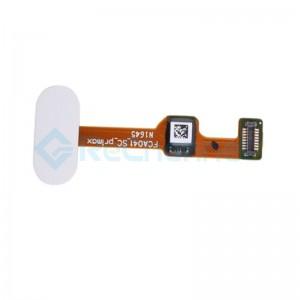 For OPPO R9s Plus Home Button Flex Cable Replacement - White - Grade S+