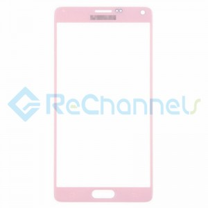 For Samsung Galaxy Note 4 Series Glass Lens Replacement - Pink - Grade S+
